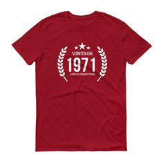 Men's Vintage 1971 Aged to perfection T-shirt - 1971 birthday gift ideas - 46 Birthday