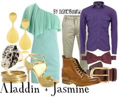 Disneybound. Aladdin and Jasmine.
