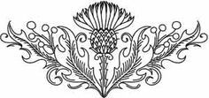 thistle hand embroidery patterns - Google Search