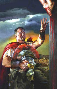 """""""The Centurion"""" painting of The Savior, Jesus Paintings, original oil paintings by Spencer Williams."""