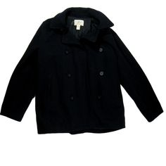 "Shop Men's L.L. Bean size LT Large Tall Pea Coats at a discounted price at Poshmark. Description: Up for sale is a LL Bean Men's Wool Pea Coat Size Large T Tall Dark Navy. Retail price new is $279! Coat is pre-owned but in good condition with no rips tears or stains that I can see. Please note that this items tag has been marked to prevent retail returns. Thank you for viewing! Sleeve Measurement Approx. 29"" Cross Shoulder Measurement Approx. 20"" Center Back Length Measurem..."