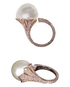 Our Editor in Chief Claire is coveting this incredible David Morris rose gold and pearl ring