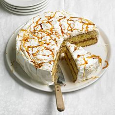 Celebrate Cinco de Mayo with this cinnamon-sugar Dulce de Leche Cake. More Mexican desserts: http://www.bhg.com/recipes/ethnic-food/mexican/14-amazing-mexican-desserts/?socsrc=bhgpin042913dulcedeleche=8