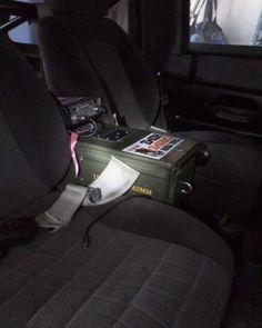 Ammo can Jeep centre console