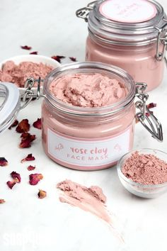 Rose Clay Face Mask DIY #Beauty #Musely #Tip