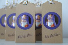 Ho, Ho, Ho… wer schaut denn da aus BibiBunt's Verpackung raus :) Fröhlichen Nikolaus wünsche ich Dir! Packing, Scrapbooking, Paper, Packaging, Bag Packaging, Scrapbooks, Memory Books, The Notebook