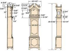 grandfather clock plans - Google Search