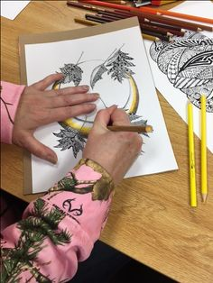 Pendleton Public Library Adult & Teen Coloring Club! Another way to color the moon!