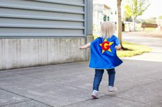 Capes Customized, Personalized, Double-Sided, Reversible by CupcakeCutieKids: Double-Sided Cape with Star & Initial