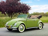 1965 VW Convertible Bug - Green #beetle
