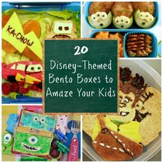 20 Disney Themed Bento Boxes to Amaze Your Kids -- fun lunches leading up to your trip!
