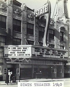 Chicago 1940s History | PHOTO - CHICAGO - STATE THEATER - 110TH AND MICHIGAN ROSELAND - 1940 ...