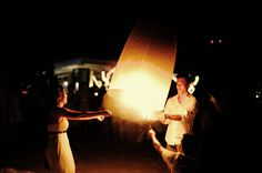 We will be letting Thai lanterns into the sky at the reception.