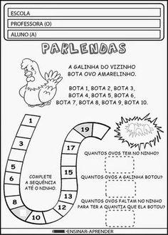 """ATIVIDADES COM PARLENDAS ~ """" Cantinho do Educador Infantil """""""