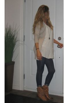 "Jean Ardene Leggings, Cowboy Aldo Shoes Boots, Cardigan Zara Tops | ""Introduction"" by lanton 