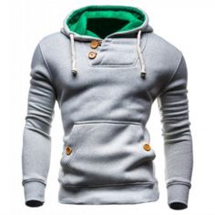 2015 Double Button Hoodie A good hoodie should be part of every man's wardrobe especially during the spring and autumn period. Hoodies are very useful not only because they are easy to combine with ot Look Fashion, Mens Fashion, Fashion Outfits, Fashion 2015, Fashion Ideas, Fashion Design, Sharp Dressed Man, Mode Style, Look Cool