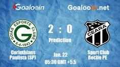 Corinthians Paulista (SP) 2-0 Sport Club Recife PE