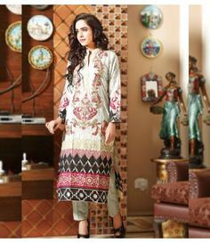 Rangrasiya Embroidered Lawn Suits Vol.3 D-1049B