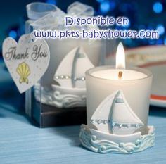 Recuerdos para Baby Shower - Vela Barquito - Disponible en www.pkts-babyshower.com