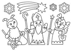 omalovánky mikuláš, čert, anděl Christmas Crafts For Kids, Christmas Colors, Christmas Themes, Christmas Diy, Christmas Decorations, Paper Chains, Saint Nicholas, Free Coloring Pages, Craft Activities