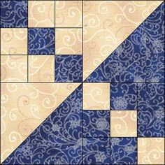 Wyoming Beauty Quilt Block -- a lively block made with two nine-patch blocks and two half-square triangles. Quilting Projects, Quilting Designs, Sewing Projects, Quilting Ideas, Patch Quilt, Quilt Block Patterns, Pattern Blocks, Block Quilt, Quilt Blocks Easy