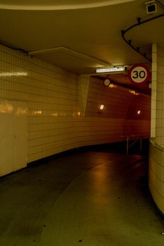 Bicycle entrance to Maastunnel, Rotterdam Netherlands
