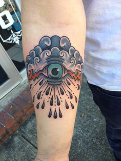 Epic Traditional Eye of Storm Tattoo  Tattoo made by David Wilson ironclad Tattoo Gallery Saltillo, MS
