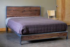 The Early Century Bed  Queen Size by deliafurniture on Etsy, $1200.00