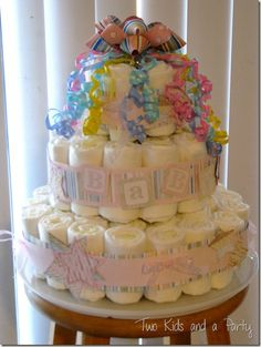 DIY Diaper Cake....idea for quiesha