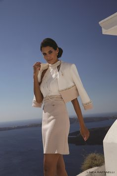 Linea Raffaelli Santorini collection, set 80, collectie 2017 Dress 171-193-01 Jacket 171-199-01 Necklace 171-392-01