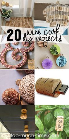 Save those wine corks and then get crafty! Twenty cool ways to repurpose and upcycle wine corks.