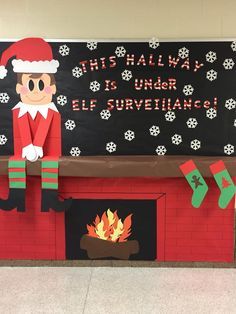 School Christmas Bulletin board!                                                                                                                                                                                 Más