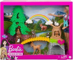 Barbie Doll Set, Doll Clothes Barbie, Barbie Toys, Barbie And Ken, Barbie Dress, Baby Deer, Fox Baby, Wilderness Explorer, Barbie Playsets