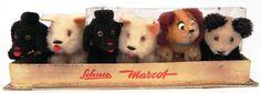 Schuco Mascot Noah's Ark set 1953 MIB five dogs and one panda maskot mascotte #Schuco