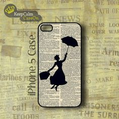 Mary Poppins Silhouette iPhone Case!  #iPhone5 #iPhone