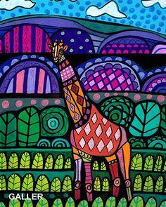 Image result for giraffe folk art