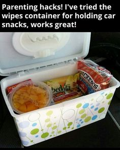 Car snack packs