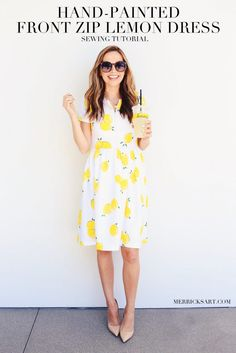 Merrick's Art // Style + Sewing for the Everyday Girl : DIY FRIDAY: LEMON PRINT FIT AND FLARE DRESS SEWING TUTORIAL