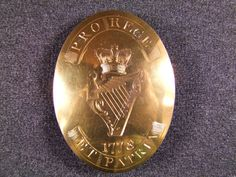 """Irish Officers """"For King and Country"""" oval cross belt plate c1778, £595"""