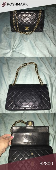 Auth Chanel Jumbo Lambskin Double Flap Authentic Chanel Jumbo Vintage Double Flap Bag is in Great Condition in My Opinion. It does show light usage signs. No serial number due to age. Will come with authentication letter.  Please See All My Listing. Payment Plans Offered. CHANEL Bags Shoulder Bags