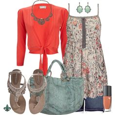 Casual Floral, created by hatsgaloore on Polyvore