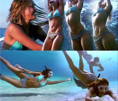 My fitness inspiration!! Jessica Alba - Into The Blue. Amazing body!