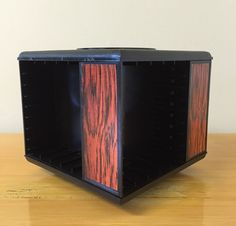 Vtg Rotating Carousel Audio Cassette Rack Tape Storage Rack Holder 20 Tapes