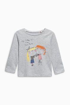 Ecru Little Sister Character T-Shirt (3 mes. – 6 rok.)