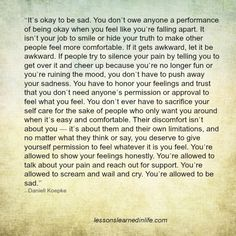 Lessons Learned in Life | You're allowed to be sad.