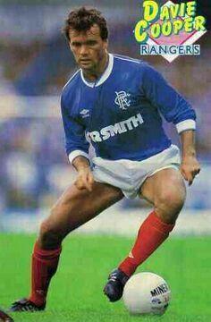 Davie Cooper of Rangers in 1986.