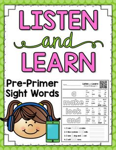 These Listen and Learn Activities are 15-17 minutes each of GUIDED INSTRUCTION by ME! :) Students listen, color, and write based on skills that I teach! Simply copy the printable you want your students to work on and choose one of the following formats: •Scan a QR code with an old smart phone, iP...