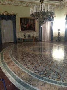 traditional neopolitan capodimonte salon. capodimonte museum in naples, Italy.