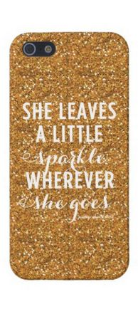 """She leaves a little sparkle wherever she goes"""