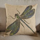 Dragonfly Burlap Pillow #birchlane
